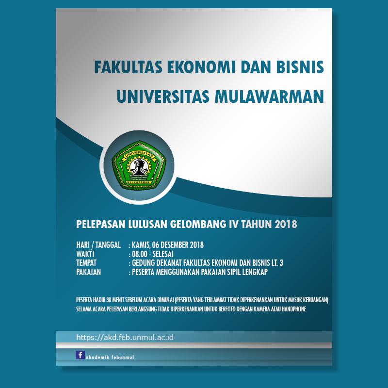 Info Akademik FEB Unmul (Jadwal Pelaksanaan Pelepasan Gel. IV Tahun 2018 FEB Unmul)