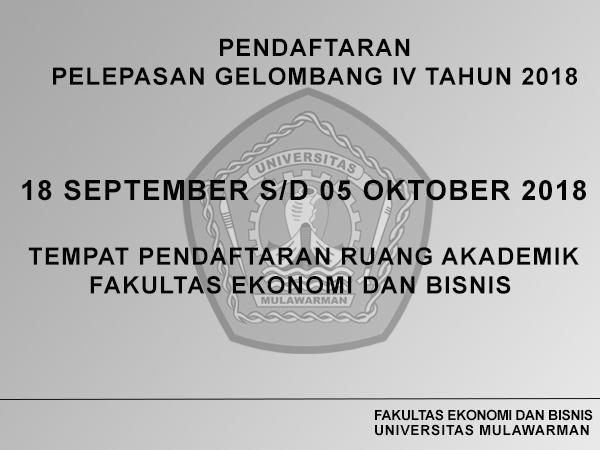 Info Akademik FEB Unmul (Pendaftaran Pelepasan Gelombang IV Tahun 2018)